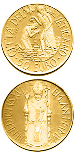 50 euro The Sacraments of Christian Initiation - Baptism  - 2005 - Series: Gold 50 euro coins - Vatican City