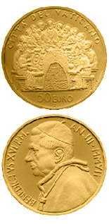 50 euro coin The Sacraments of Christian Initiation - The Eucharist  | Vatican City 2007