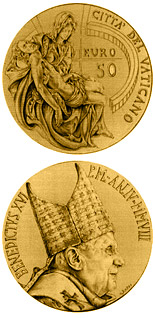 50 euro Masterpieces of Sculpture - Torso of Belvedere - The Pieta by Michelangelo  - 2008 - Series: Gold 50 euro coins - Vatican City