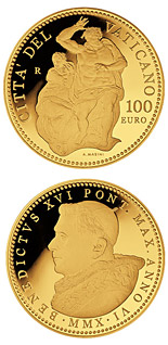100 euro The Sistine Chapel - Le Jugement Universel - 2010 - Series: Gold 100 euro coins - Vatican City