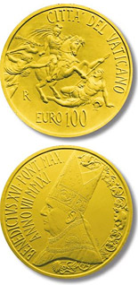 100 euro The Stanze of Raphael - The Room of Heliodorus - 2011 - Series: Gold 100 euro coins - Vatican City