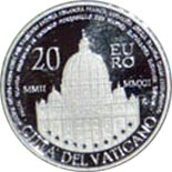 20 euro coin Decennial of the Vatican Euro  | Vatican City 2012