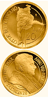 20 euro The Pauline Chapel restored- The Conversion of Saul  - 2012 - Series: Gold 20 euro coins - Vatican City