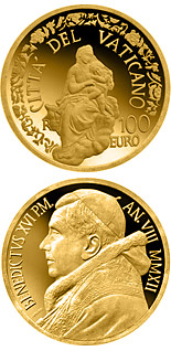 100 euro The Madonna of Foligno  - 2012 - Series: Gold 100 euro coins - Vatican City