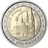 2 euro coin 20th World Youth Day, held in Cologne in August 2005 | Vatican City 2005