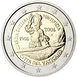 2 euro coin 500th Anniversary of the Swiss Guard | Vatican City 2006