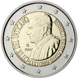 2 euro coin 80th birthday of His Holiness Pope Benedict XVI | Vatican City 2007