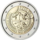 2 euro coin International Year of Astronomy | Vatican City 2009