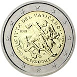 2 euro coin Year for priests | Vatican City 2010