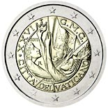 2 euro coin XXVI World Youth Day Madrid 2011 | Vatican City 2011