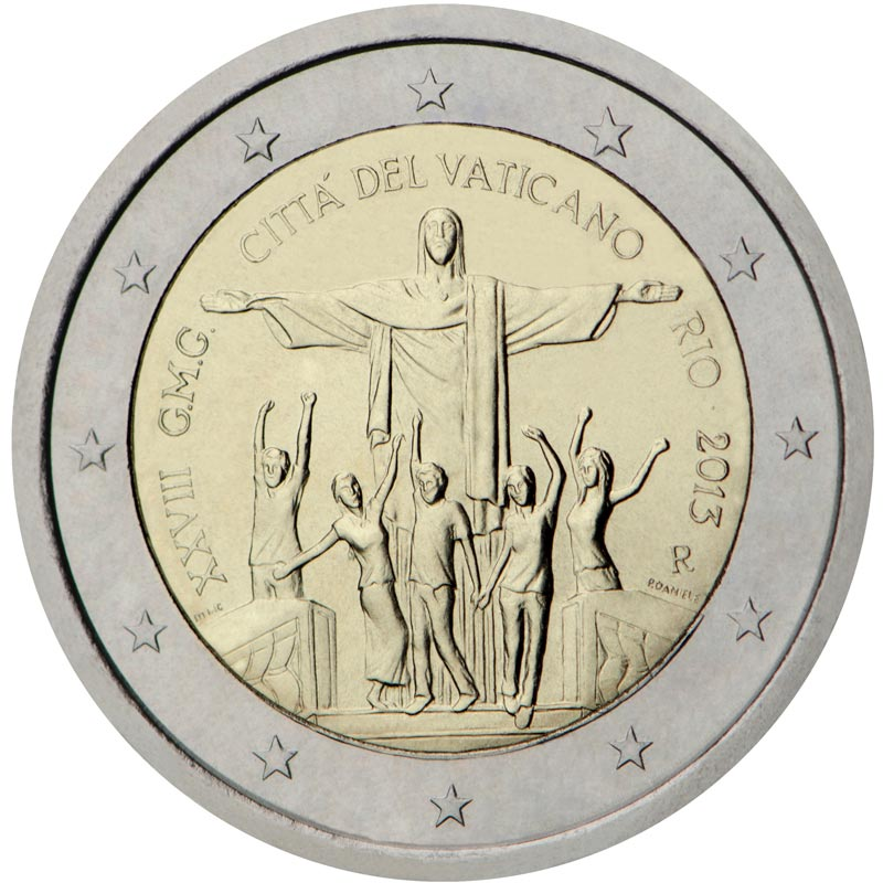 2 euro World Youth Day 2013 - Rio - 2013 - Series: Commemorative 2 euro coins - Vatican City