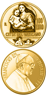 100 euro coin The Sistine Madonna | Vatican City 2013