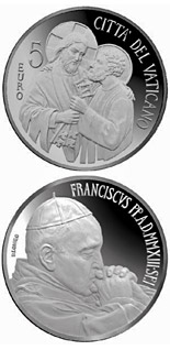 5 euro coin Beginning of the Pontificate of Pope Francis | Vatican City 2013
