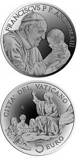 5 euro coin Pontificate of Pope Francis | Vatican City 2013