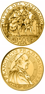 50 euro coin Pontificate of Pope Francis | Vatican City 2013