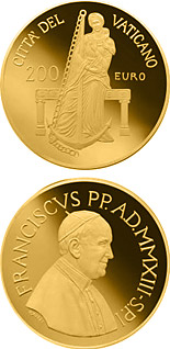 200 euro The Theological Virtues – Hope - 2013 - Series: Gold 200 euro coins - Vatican City
