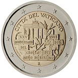 2 euro 25 Years since the Fall of the Berlin Wall - 2014 - Series: Commemorative 2 euro coins - Vatican City