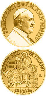 100 euro coin The Evangelists: Saint Mark | Vatican City 2014