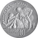 10 euro coin 450th Anniversary of the Death of Michelangelo  | Vatican City 2014