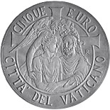 5 euro coin 47th World Day of Peace  | Vatican City 2014
