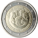 2 euro coin World Meeting Of Families 2015 | Vatican City 2015