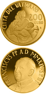 200 euro The Theological Virtues: Charity - 2014 - Series: Gold 200 euro coins - Vatican City