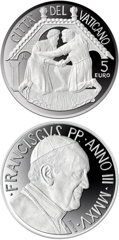 5 euro Family and Evangelization - 2015 - Series: Silver 5 euro coins - Vatican City