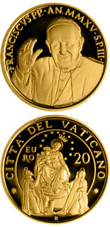 20 euro coin Pontifical Shrine of the Blessed Virgin of the Rosary of Pompeii | Vatican City 2015