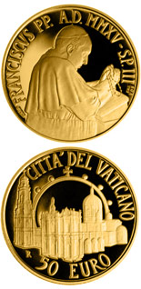 50 euro Pontifical Shrine of the Blessed Virgin of the Rosary of Pompeii - 2015 - Series: Gold 50 euro coins - Vatican City
