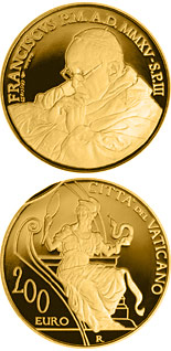 200 euro The Cardinal Virtues - Prudence - 2015 - Series: Gold 200 euro coins - Vatican City
