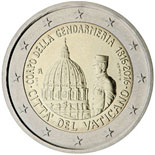 2 euro coin 200th Anniversary of Corps of Gendarmerie of Vatican City | Vatican City 2016