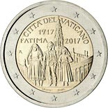 2 euro coin Centenary of the Fatima apparitions | Vatican City 2017
