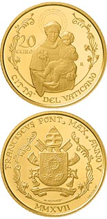 20 euro coin Pontifical Basilica of Saint Anthony of Padua | Vatican City 2017