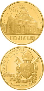 50 euro coin Pontifical Basilica of Saint Anthony of Padua  | Vatican City 2017