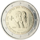 2 euro coin 1950th Anniversary of the Martyrdom of Saint Peter and Saint Paul | Vatican City 2017