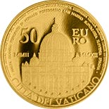 50 euro coin Decennial of the Vatican Euro  | Vatican City 2012