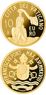 10 euro coin Baptism MMXVIII | Vatican City 2018