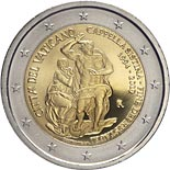 2 euro coin 25th anniversary of the restoration of the Sistine Chapel | Vatican City 2019