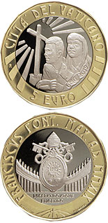 5 euro coin Day of Youth in Panama | Vatican City 2019