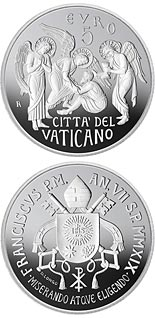 5 euro coin 150th anniversary of the foundation of the Circolo di San Pietro | Vatican City 2019