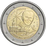 2 euro coin 100th Anniversary of the Bitrh of John Paul II | Vatican City 2020