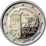 2 euro coin 500th Anniversary of the Death of Raffaello | Vatican City 2020