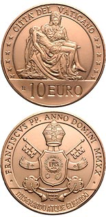 10 euro coin Art and Faith: the Pietà | Vatican City 2020