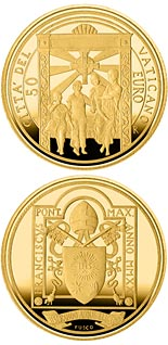 50 euro coin Pope Francis Year MMXX | Vatican City 2020
