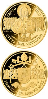 100 euro coin The Apostolic Constitutions of the 2nd Vatican Council: Dei Verbum | Vatican City 2020
