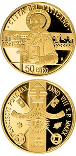 50 euro coin Acts of Apostles: Paul Witness of Christ | Vatican City 2020