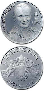 5 euro coin Beatification of Pope John Paul II | Vatican City 2011