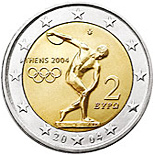 2 euro Summer Olympics in Athens 2004 - 2004 - Series: Commemorative 2 euro coins - Greece