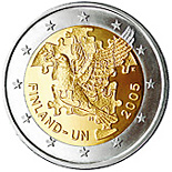 2 euro 60th Anniversary of the Establishment of the United Nations and 50th Anniversary of Finland's UN Membership - 2005 - Series: Commemorative 2 euro coins - Finland