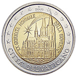 2 euro 20th World Youth Day, held in Cologne in August 2005 - 2005 - Series: Commemorative 2 euro coins - Vatican City